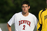 04 September 2009: Denver's Drew Beckie. The North Carolina State University Wolfpack defeated the University of Denver Pioneers 4-0 at Koskinen Stadium in Durham, North Carolina in an NCAA Division I Men's college soccer game.