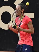 BOGOTA -COLOMBIA. 14-04-2017. Francesca Schiavone (ITA) durante juego de semifinal contra Johanna Larsson (SWE) del Claro Open Colsanitas WTA 2017 jugado en el Club Los Lagartos en Bogota. /  Francesca Schiavone (ITA) during match against Johanna Larsson (SWE) for the semifinal of Claro Open Colsanitas WTA 2017 played at Club Los Lagartos in Bogota city. Photo: VizzorImage/ Gabriel Aponte / Staff