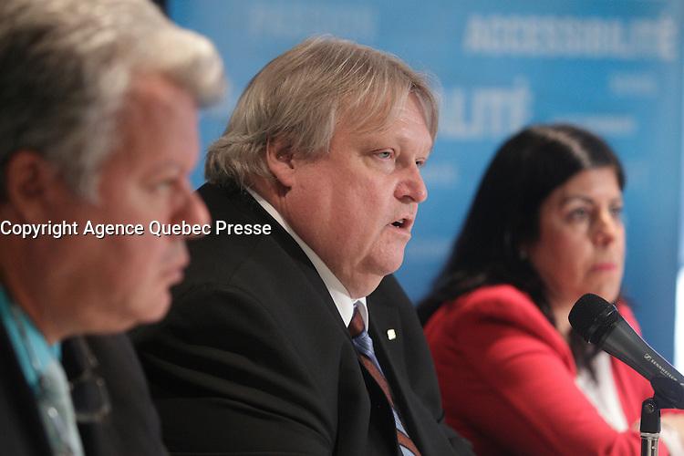 May , 2013 File Photo - Doctor Gaetan Barrette , President Federation des medecins specialistes du Quebec in a news conference.