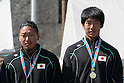 (L to R) Momotaro Matsushita, Hiroki Watanabe, .MARCH 29, 2012 - Canoeing : .2012 International Canoeing Competitions Selection Trial & The 22th Fuchuko Canoe Regatta, .Men's Kayak Double 200m Final at Lake Fuchu, Kagawa Japan. (Photo by Akihiro Sugimoto/AFLO SPORT)