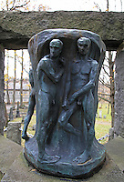 Monument in the graveyard at Nidarosdomen made by the norwegian sculptor Gustav Vigeland (1869-1943).