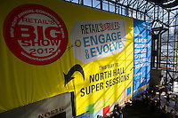 00091686 New York, New York.  1/16/2012 NATIONAL RETAIL FEDERATION TRADE SHOW.  Exhibitors and attendees at the annual National Retail Federation trade show at the Jacob Javits Convention Center in New York    FRANCES ROBERTS/FREELANCE PHOTOGRAPHER