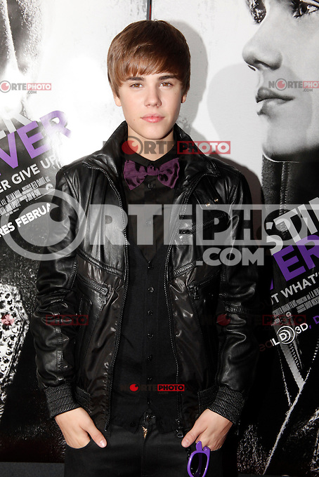 Justin Bieber attends the New York premiere of 'Justin Bieber: Never Say Never' at Regal E-Walk 13 on February 2, 2011 in New York City on February 2, 2011  &copy; Star Shooter / MediaPunchInc / NortePhoto.com.<br />