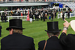 The new parade ring and grandstand. Horse racing at Royal Ascot, Berkshire, England. 2006.