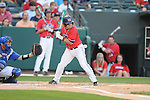 Mississippi's Zach Miller is hit by a pitch pitch vs. Memphis at Autozone Park in Memphis, Tenn. on Tuesday, April 13, 2010. Memphis won 6-5.
