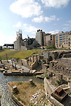 Minnesota, Twin Cities, Minneapolis-Saint Paul: Mill City Museum, showing flour milling history in Minneapolis, and Mill Ruins Park..Photo mnqual266-74905..Photo copyright Lee Foster, www.fostertravel.com, 510-549-2202, lee@fostertravel.com.