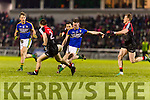 Conor Keane Kerry in action against Donal Vaughan Mayo in the National Football league at Austin Stack Park, Tralee on Saturday night.
