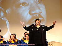 Yolanda King speaks durring MLK Day in 2006.