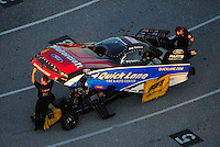 Jan. 20, 2012; Jupiter, FL, USA: Aerial view of NHRA funny car driver Bob Tasca III during testing at the PRO Winter Warmup at Palm Beach International Raceway. Mandatory Credit: Mark J. Rebilas-