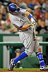 21 June 2008: Texas Rangers' second baseman Ian Kinsler in action against the Washington Nationals at Nationals Park in Washington, DC. The Rangers defeated the Nationals 13-3 in the second game of their 3-game inter-league series...Mandatory Photo Credit: Ed Wolfstein Photo