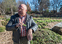 NWA Democrat-Gazette/ANTHONY REYES &bull; @NWATONYR<br /> Don Bennett, co-founder of Tri-Cycle Farms, Friday, Dec. 4, 2015 at the farm in Fayetteville. The group has a fundraising campaign to help promote their ideas on food awareness, education and stamping out food insecurity.