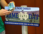 Sep 8, 2012; Complimentary phone charging stations set up on campus for football visitors...Photo by Matt Cashore/University of Notre Dame