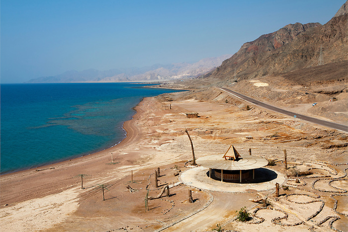 Taba, Sinai, July 2014. Seaside resort left unfinished and abandoned. After Israel's withdrawal in 1982, Sinai's sea side with its coral reeves and underwater life, saw a real boost in the development of tourism by the Egyptians. But the 2011 revolution inflicted a  shock in the local econonmy.
