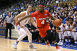 11 November 2016: Marist's Isaiah Lamb (4) and Duke's Luke Kennard (5). The Duke University Blue Devils hosted the Marist College Red Foxes at Cameron Indoor Stadium in Durham, North Carolina in a 2016-17 NCAA Division I Men's Basketball game. Duke won the game 94-49.