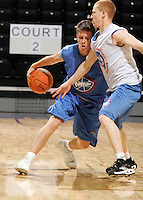 1/2G Andy Burns (Minnetonka, MN / Minnetonka) drives the ball during the NBA Top 100 Camp held Thursday June 21, 2007 at the John Paul Jones arena in Charlottesville, Va. (Photo/Andrew Shurtleff)