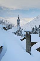 Village of Andermatt in winter, Andermatt, Switzerland, Europe