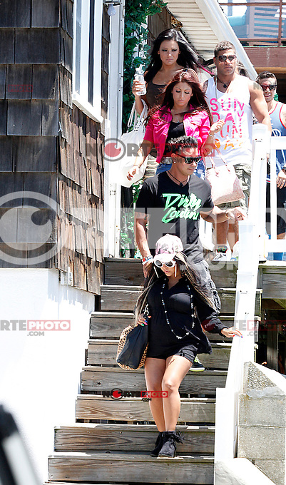 The entire cast of the show leave the house for a secret destination during filming of The Jersey Shore Show season six in Seaside Heights, New Jersey on June 27, 2012  &copy; Star Shooter / MediaPunchInc /*NORTEPHOTO.COM*<br /> **SOLO*VENTA*EN*MEXICO** **CREDITO*OBLIGATORIO** *No*Venta*A*Terceros* *No*Sale*So*third* *** No Se Permite Hacer Archivo** *No*Sale*So*third*