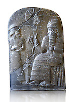 Basalt Babylonian sculpture usurped by an Elamite king. 12th cent. BC from Suse. Inv AO 30043, The Louvre Museum, Paris.
