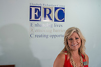 NWA Democrat-Gazette/ANTHONY REYES &bull; @NWATONYR<br /> Amy Bates, secretary of the board for the Elizabeth Richardson Center, Wednesday, June 24, 2015 at the center in Springdale. The Center will have their major fundraiser,  Beach Bingo Friday, July 24, 2015 at the UARK Bowl in Fayetteville.