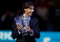 Rafael Nadal is presented with the Stefan Edberg Players Fair Play Award..International Tennis - Barclays ATP World Tour Finals - O2 Arena - London - Day 3 - Tue 23 Nov 2010..© Frey - AMN Images, Level 1, Barry House, 20-22 Worple Road, London, SW19 4DH.Tel - +44 208 947 0100.Email - Mfrey@advantagemedianet.com.Web - www.amnimages.photshelter.com