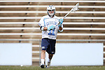 14 February 2015: North Carolina's Joey Sankey. The University of North Carolina Tar Heels hosted the University of Massachusetts Minutemen in a 2015 NCAA Division I Men's Lacrosse match. UNC won the game 20-8.