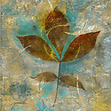 Branch with Leaves. Photo based mixed medium image.