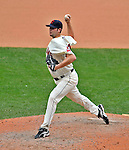 14 September 2008: Cleveland Indians' pitcher Tom Mastny on the mound in relief against the Kansas City Royals at Progressive Field in Cleveland, Ohio. The Royal defeated the Indians 13-3 to take the 4-game series three games to one...Mandatory Photo Credit: Ed Wolfstein Photo