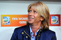 Coach Carolina Morace of team Canada during the FIFA Women's World Cup at the FIFA Stadium in Dresden, Germany on July 5th, 2011.