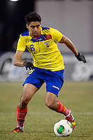 Ecuador midfielder Christian Noboa (6). Argentina and Ecuador played to a 0-0 tie during an international friendly at MetLife Stadium in East Rutherford, NJ, on November 15, 2013.