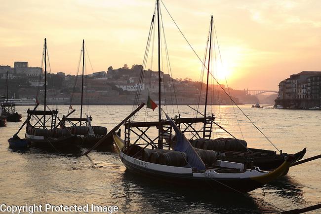 Wine Barges; Douro; River; Porto - Oporto; Portugal