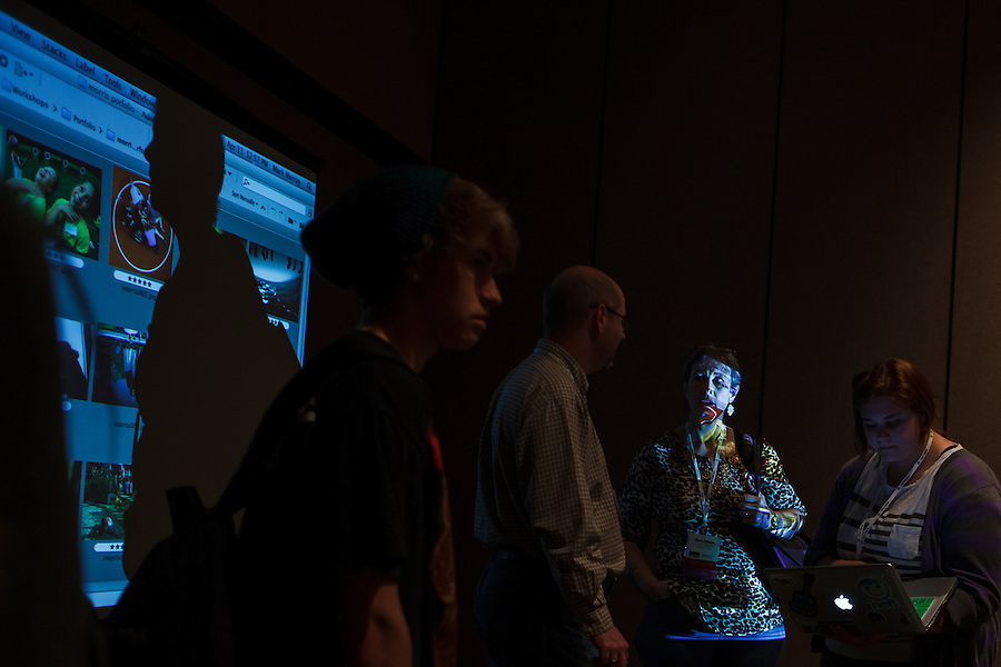 Mark Murray and Bryan Farley teach a Photography Portfolio Workshop at the 2012 Spring National Student Journalism Convention in Seattle, Washington.