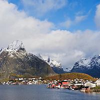Reine in autumn, Moskenesøy, Lofoten islands, Norway