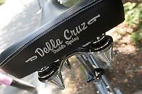 Detail of a spring bike seat on a rental bike at Mackinac Island in Michigan.