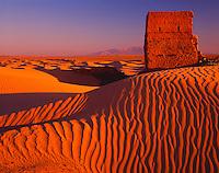 Ruins Being Overtaken By Wahibah Sands, Sultanate of Oman     Arabian Pennisula