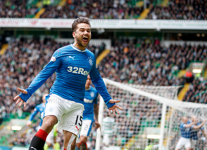 Harry Forrester celebrates Clint Hill's goal