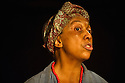 Two Shed Theatre's AFRICAN GOTHIC, by Reza de Wet, directed by Roger Mortimer and Deborah Edgington, opens at Park Theatre. Picture shows: Lesley Ewen (Alina)