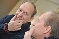 ALGEMEEN: LEMMER: 29-11-2013, Rintje Ritsma deed deze maand mee aan de actie Movember door zijn snor te laten staan om aandacht te vragen voor prostaatkanker, ©foto Martin de Jong