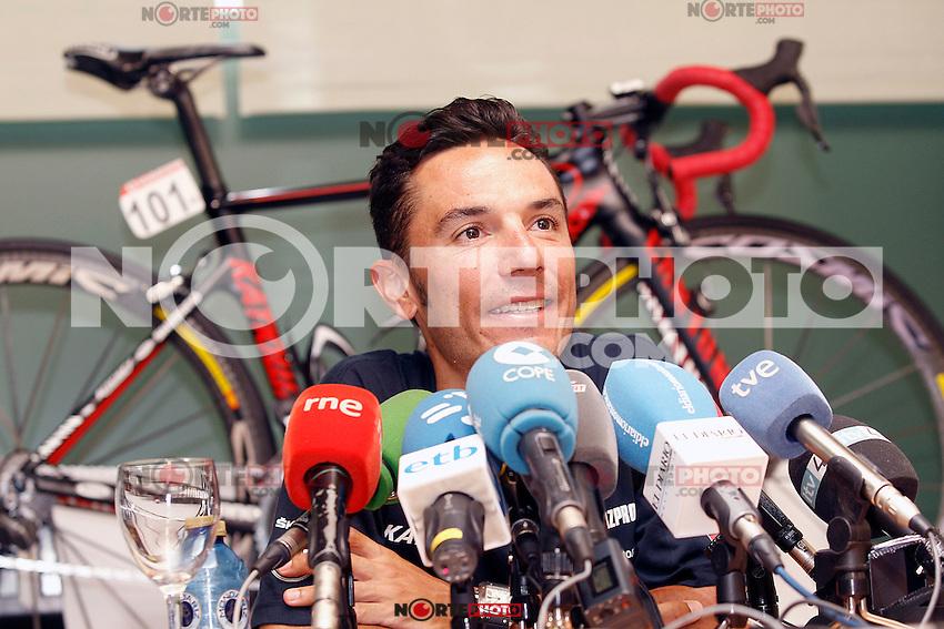 Joaquin Purito Rodriguez in press conference during the second day of rest of La Vuelta 2012.September 4,2012. (ALTERPHOTOS/Acero) /NortePhoto.com<br /> <br /> **CREDITO*OBLIGATORIO** <br /> *No*Venta*A*Terceros*<br /> *No*Sale*So*third*<br /> *** No*Se*Permite*Hacer*Archivo**<br /> *No*Sale*So*third*