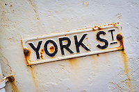 York Street Road Sign, Sidmouth, Devon, Britain - Aug 2012.