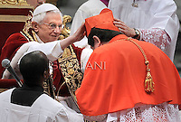 Brasil cardinal Joao Braz de Aviz , Pope Benedict XVI leads the Consistory where he will appoint 22 new cardinals on February 18, 2012 at St Peter's basilica at the Vatican.