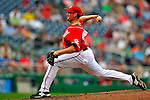24 May 2009: Washington Nationals' pitcher Joel Hanrahan closes out in the 9th inning against the Baltimore Orioles at Nationals Park in Washington, DC. The Nationals rallied to defeat the Orioles 8-5 and salvage one win of their interleague series. Mandatory Credit: Ed Wolfstein Photo