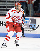 Wade Megan (BU - 18) - The visiting Boston College Eagles defeated the Boston University Terriers 3-2 to sweep their Hockey East series on Friday, January 21, 2011, at Agganis Arena in Boston, Massachusetts.