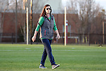 23 February 2017: Notre Dame assistant coach Katie Powell. The Elon University Phoenix hosted the University of Notre Dame Fighting Irish at Rudd Field in Elon, North Carolina in a 2017 Division I College Women's Lacrosse match. Notre Dame won the game 16-7.