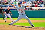 8 March 2009: New York Mets' pitcher Brian Stokes in action during a Spring Training game against the Washington Nationals at Space Coast Stadium in Viera, Florida. The Nationals defeated the Mets 8-3 in the Grapefruit League matchup. Mandatory Photo Credit: Ed Wolfstein Photo