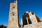 Torre de Re Frederico 2nd, &Eacute;rice Duomo [Erice cathedral], Sicily stock photos.