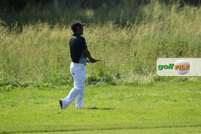 Thongchai Jaidee (THA) plays his 2nd shot on the 3rd hole during Thursday's Round 1 of the 2013 BMW International Open held on the Eichenried Golf Club, Munich, Germany. 20th June 2013<br /> (Picture: Eoin Clarke www.golffile.ie)
