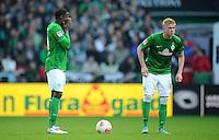 FUSSBALL   1. BUNDESLIGA  SAISON 2012/2013   6. Spieltag   SV Werder Bremen - FC Bayern Muenchen          29.09.2012 Joseph Akpala und Kevin De Bruyne (li, beide SV Werder Bremen) sind nach dem 0:2 enttaeuscht