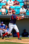 18 March 2006: Ryan Zimmerman, third baseman for the Washington Nationals,at bat during a Spring Training game against the New York Mets at Space Coast Stadium, in Viera, Florida. The Nationals defeated the Mets 10-2 in Grapefruit League play...Mandatory Photo Credit: Ed Wolfstein Photo..