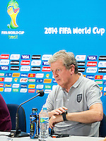 England manager Roy Hodgson looks at his watch