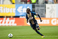 Keon Daniel (26) of the Philadelphia Union. The Los Angeles Galaxy defeated the Philadelphia Union 4-1 during a Major League Soccer (MLS) match at PPL Park in Chester, PA, on May 15, 2013.